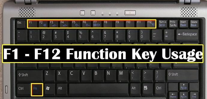 تعلم كيف يمكنك توفير الوقت باستخدام مفاتيح الوظائف الخاصة F1>F12