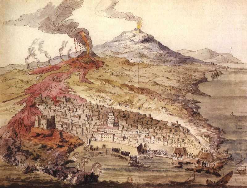 ثوران جبل إتنا سنة 1669