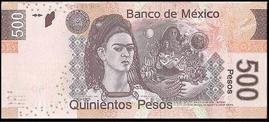طبع صورة فريدا كاهلو على العملة